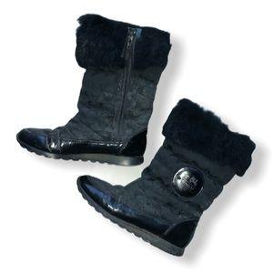 COACH Black Winter Boots in Box   Women's Size 8
